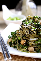 Olives for Dinner | Green Tea Noodle Salad on Vegan Cuts!