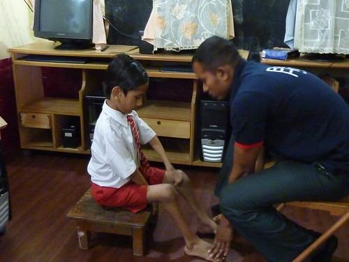 Alumno de la Sección Alumnos con discapacidad