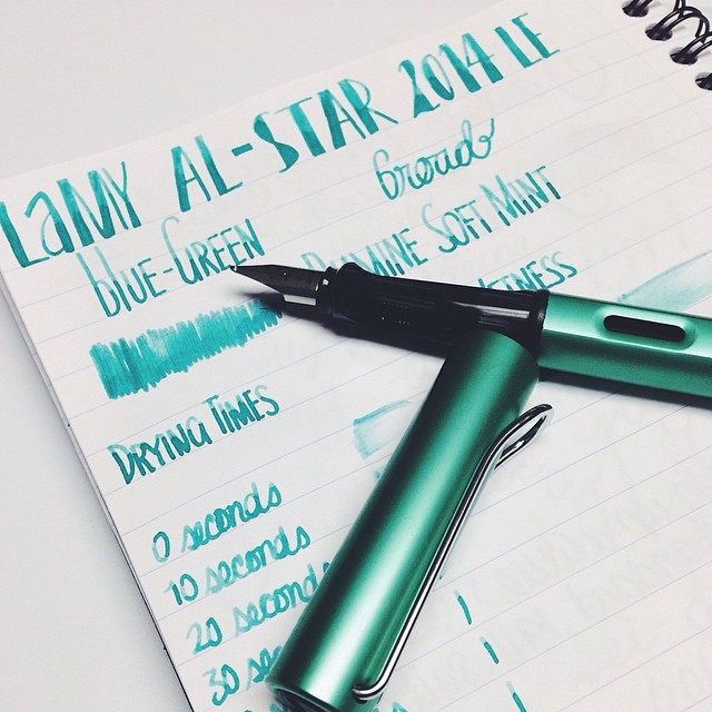 Lamy Al-Star 2014 LE Blue Green Fountain Pen - Broad Nib Thanks @wonderpens !  @lamyusapens @lamy @exaclair #fpgeeks #fountainpens #pens #penporn #penaddict #stationery