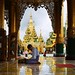 Follower of the Buddha making a pilgrimage to the Shwedagon by B℮n