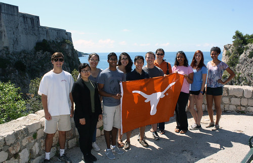 UT PGE students exploring Dubrovnik, Croatia during their study abroad experience