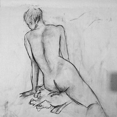 Another image I like from tonight's life drawing session