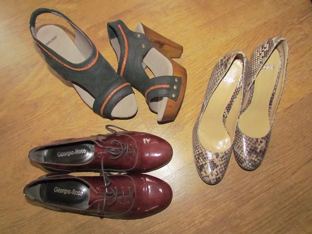 Sarenza shoe haul, Feb 2012
