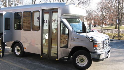MV Transport new 2012 Ford paratransit bus.  Evanston Illinois USA. February 2012. by Eddie from Chicago