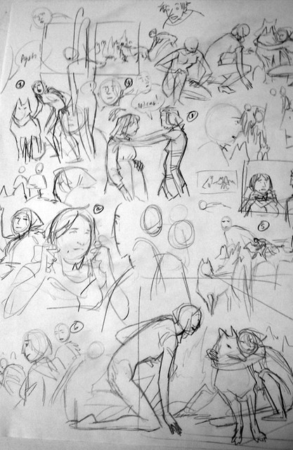 Family Man layout sketches