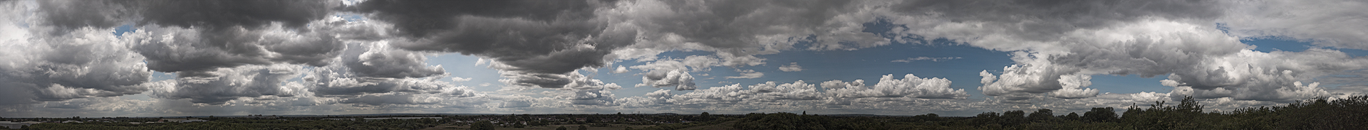Panorama - Bedfont Cloud Panorama Large by Nicholas M Vivian