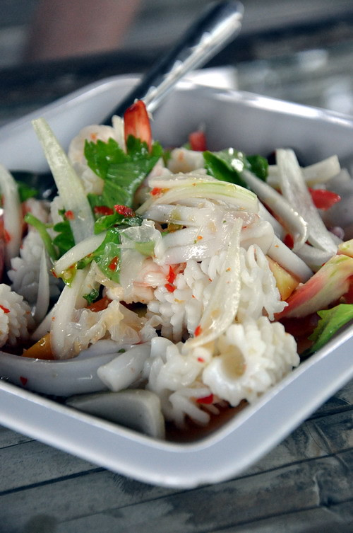 Seafood Salad at Ma am Restaurant Koh Samui Big Boy Owen