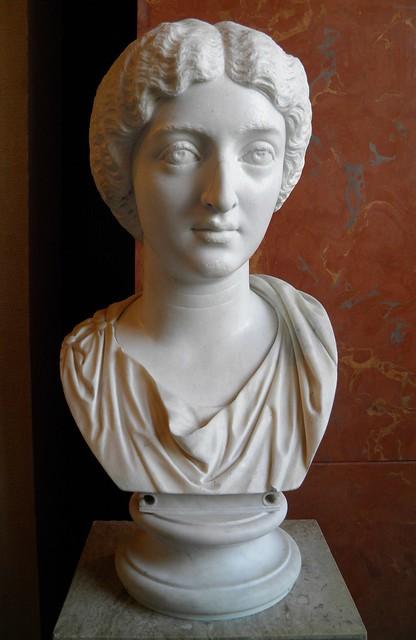 Faustina the Younger,  AD 130–175, daughter of Antoninus Pius and wife of Marcus Aurelius,  c. 180–190 AD, Louvre Museum