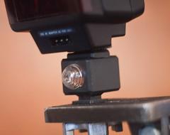 Minolta 4000AF mounted on an Optical Slave Trigger