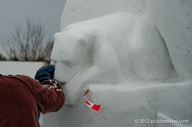 Snow Sculpture Bear