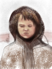 Catching Snowflakes - drawing 360 of 365
