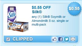 Silk Soymilk Or Almondmilk Coupon