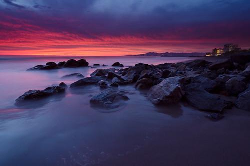 ocean longexposure sunset sea sky beach water night clouds mexico rocks pacific cloudy jalisco nuevovallarta puertovallarta banderasbay nikond7000 nikon1024mm playanuevovallarta