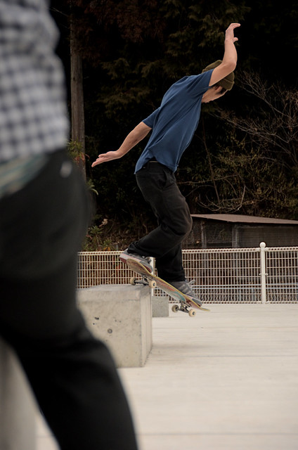 back side smith grind / takao west nishi