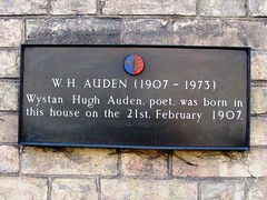 Photo of Wystan Hugh Auden black plaque