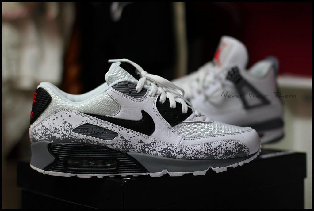 by Never Wear Them Nike iD Air Max 90 Air Jordan inspired.  c915a6f45