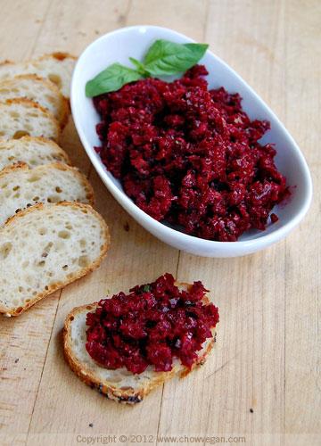 Red Beet Tapenade Crostini