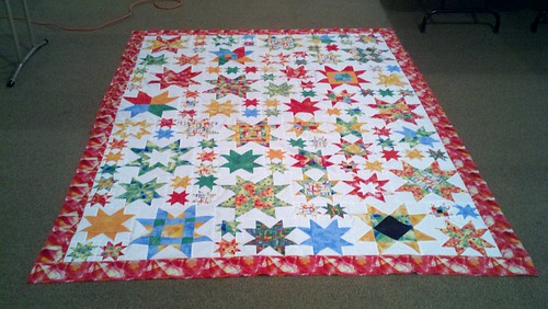 Star quilt top