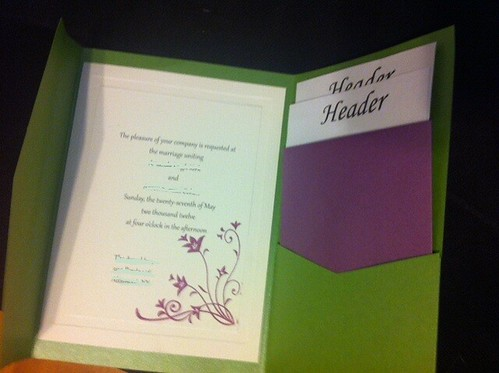diy pocketfolds & vistaprint - weddingbee, Wedding invitations