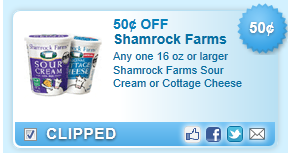 Shamrock Farms Sour Cream Or Cottage Cheese Coupon