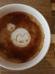Today's latte, basho.