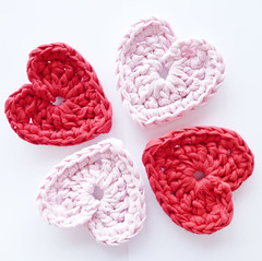 T-shirt Yarn Hearts