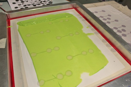 little pods - screen printing - lime