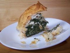 Greek Spinach Pie slice