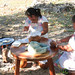 Yucatan Women Work Together on Tortillas - Mexico