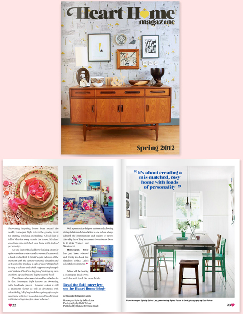 Heart Home magazine, Spring 2012 | Emma Lamb