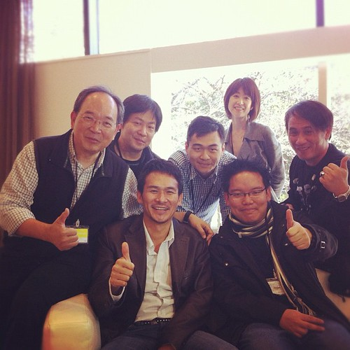 "With actor Tsuyoshi Ihara (""Letters from Iwo Jima"", ""13 Assassins"") and my crew. Ihara wants to participate in productions around the world I"