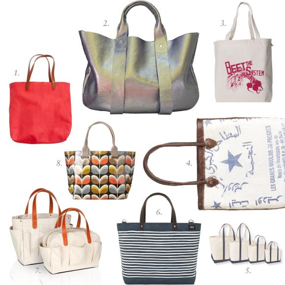 Garnish: Shopping totes