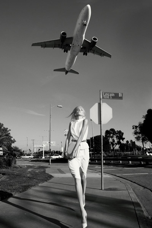 Editorial - Self Service Magazine, S/S 12 - Anja Rubik and Karmen Pedaru by Glen Luchford and styling by Marie Chaix