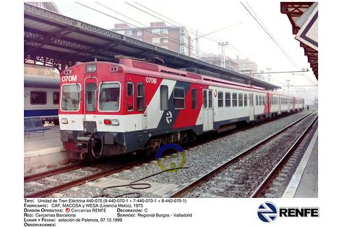 RENFE - Cercanías - 440-070, Palencia