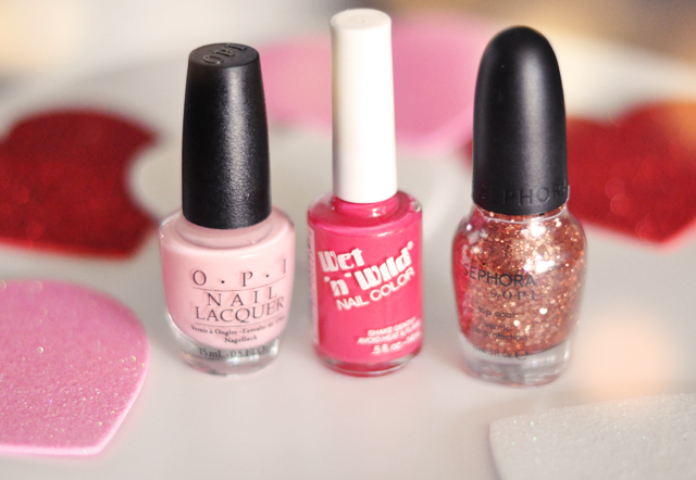 pink nail polishes for vday