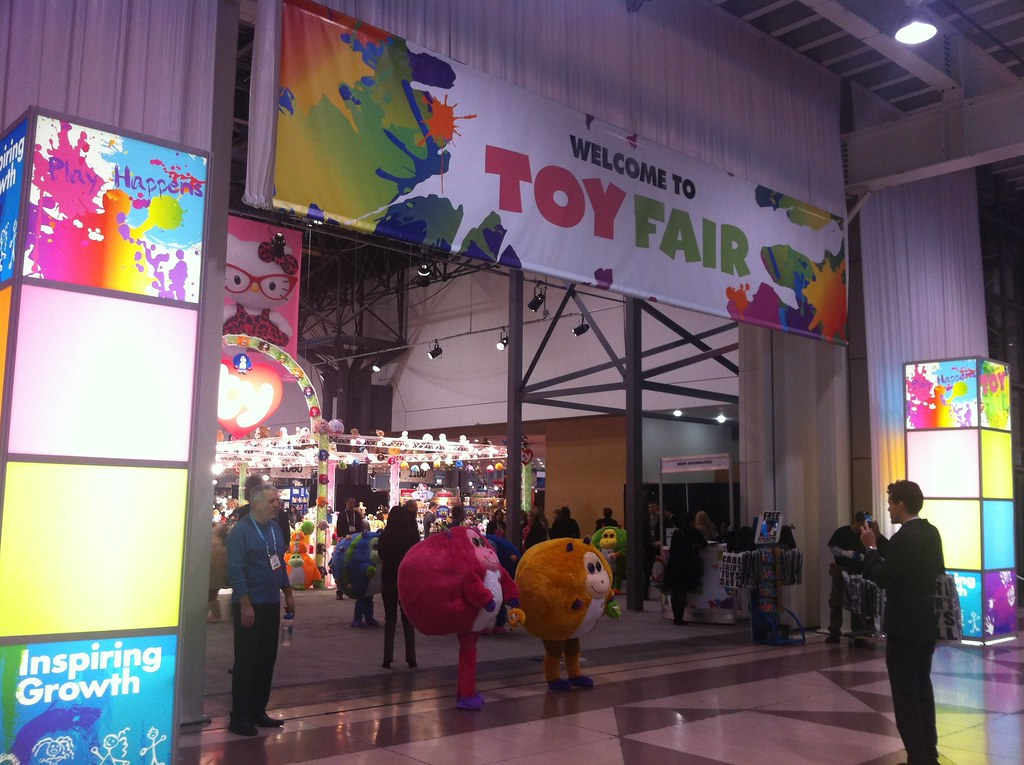 Photograph of the entrance to Toy Fair 2012 in NYC