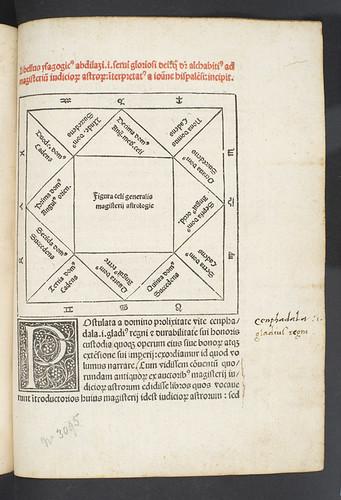 Title incipit printed in red in Alchabitius: Libellus isagogicus