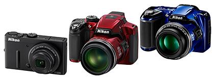 Nikon COOLPIX P310 (S$549), P510 (S$739), and L810 (S$399)