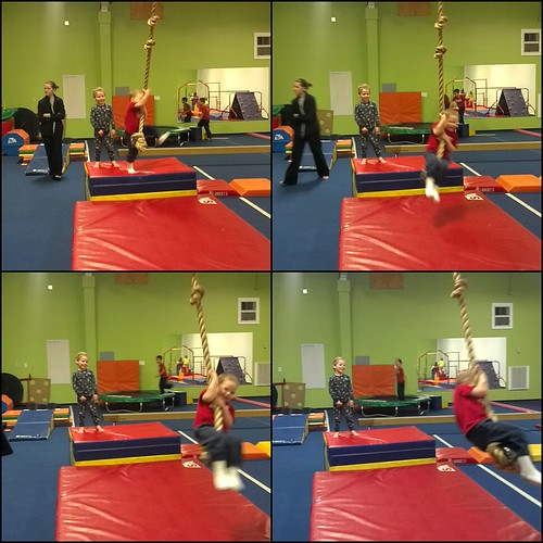 Billy Monkey at the tumbling gym