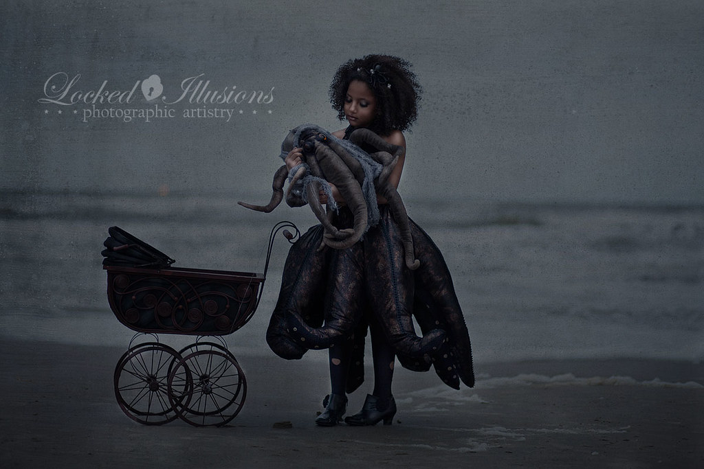 6879170459 9d760d85fe b Goth Octopus Girl Dark Child Photography