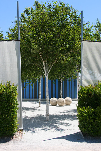 blue courtyard