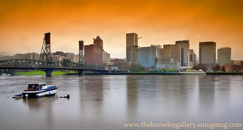 City of Portland in the rain | by The Knowles Gallery