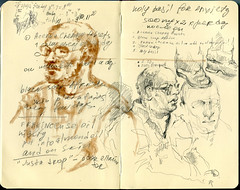 Messy page in my moleskine.