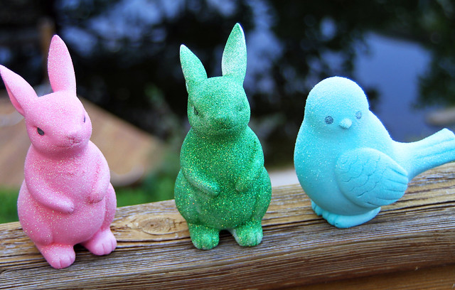 Glitter Bunnies and Birds