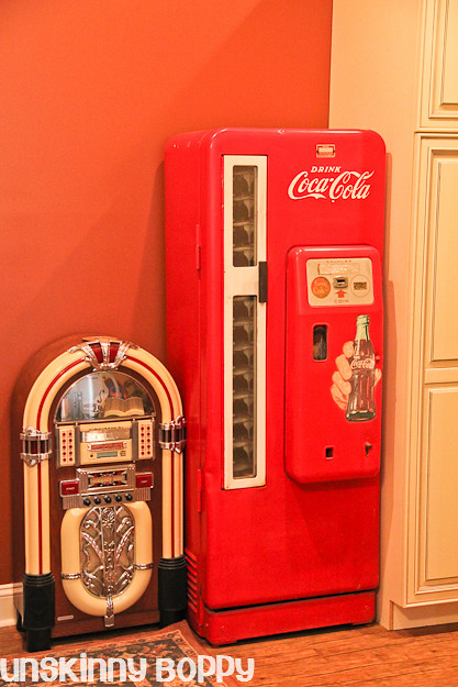 coke machine in basement