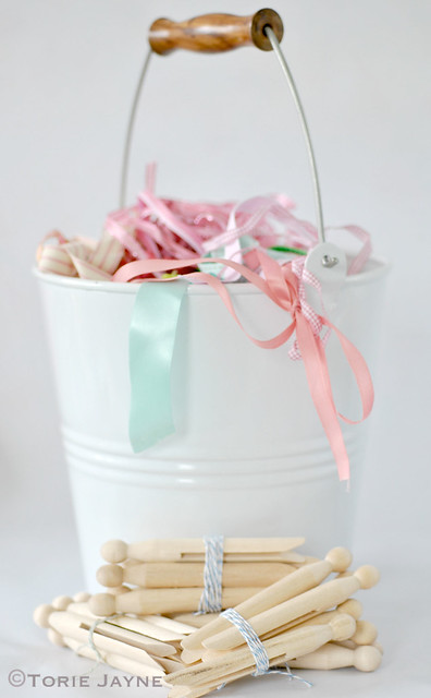Basket of ribbons to organize
