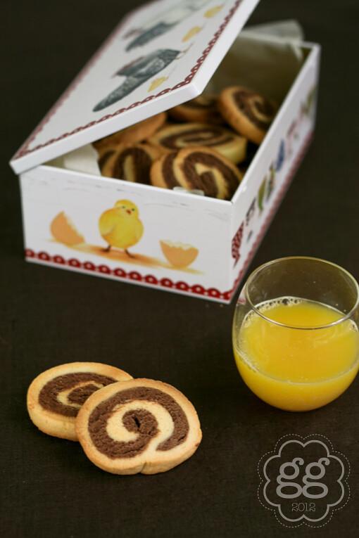 girelle di biscotti bicolore