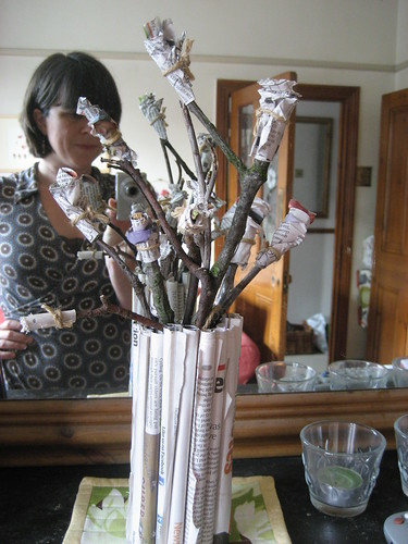 Frank & Livvy's paper bouquet