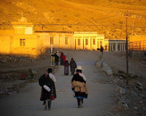 Sunset in Darchen, Tibet