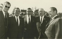 Gawler Show 1968 dignitaries On the occasion that Life Membership was awarded to Murray Hillier.Left to right:  U.K visitorLord Derby , Ross Storey MLC, Boyd Dawkins MLC, Murray Hillier, Mayor Bruce Eastick.